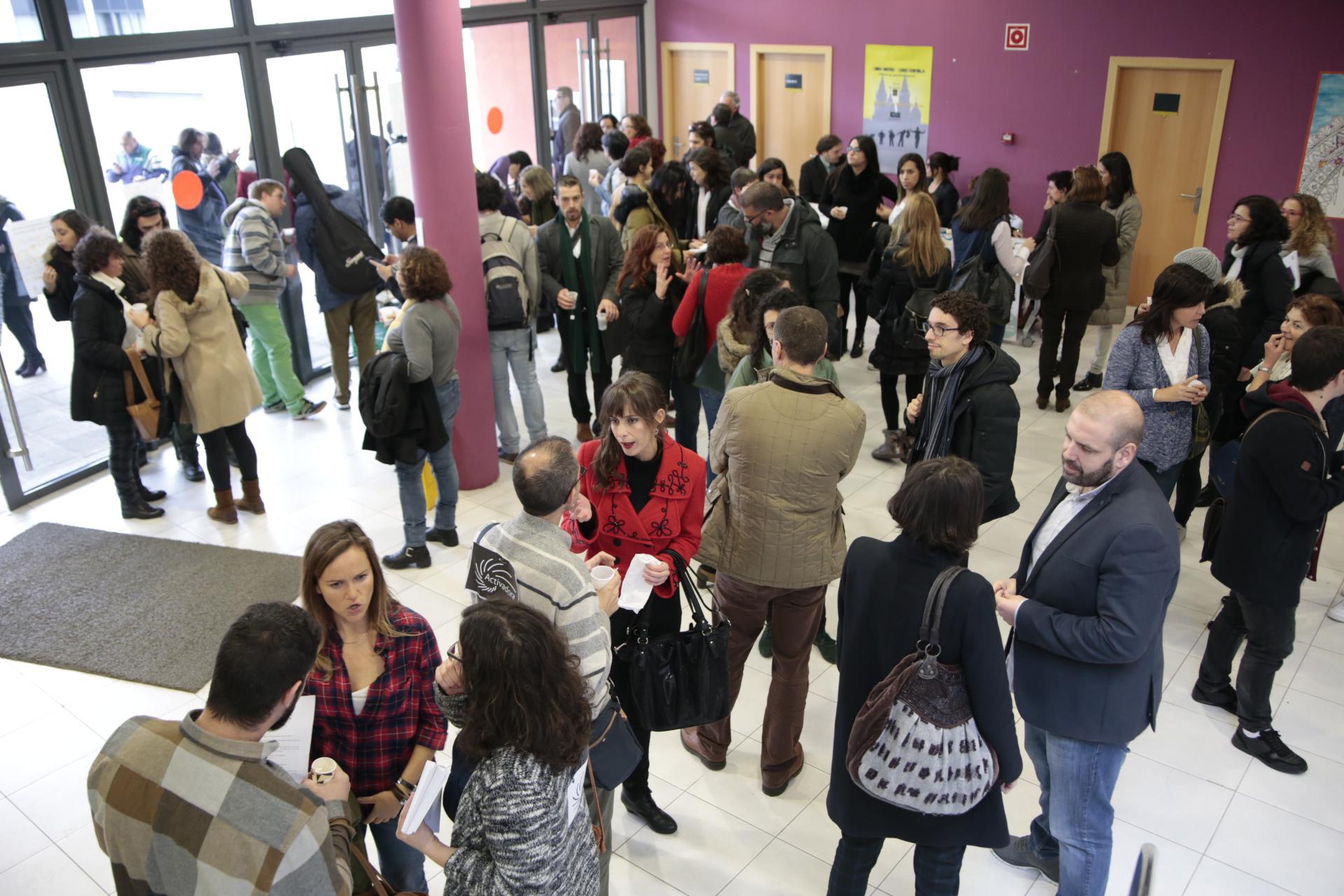 O recibidor do CERSIA Empresa nas Xornadas de Economía Social