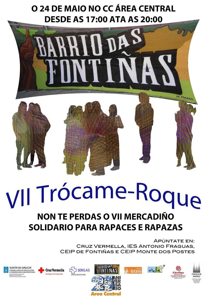 Cartel do mercadiño solidario.