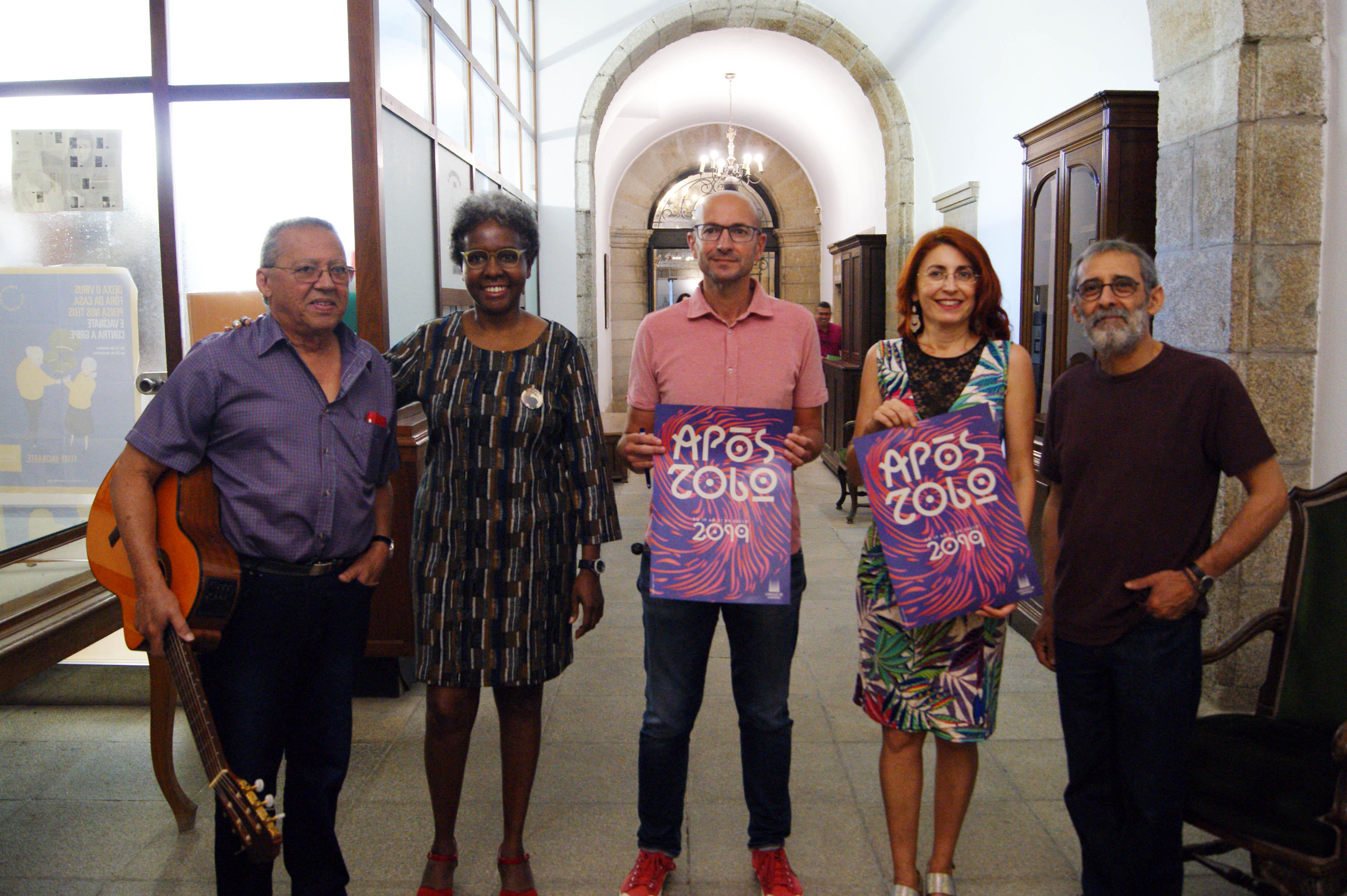 Rey Montesinos, Jamila Purofilin, Gonzalo Muíños, Montse Rivera e Xosé V. Ferreirós.