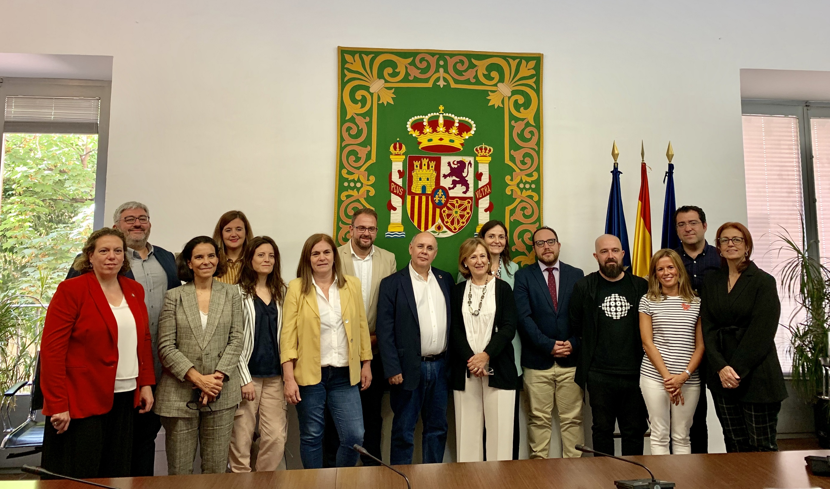 Os/as integrantes da Comisión de Patrimonio do GCPHE.