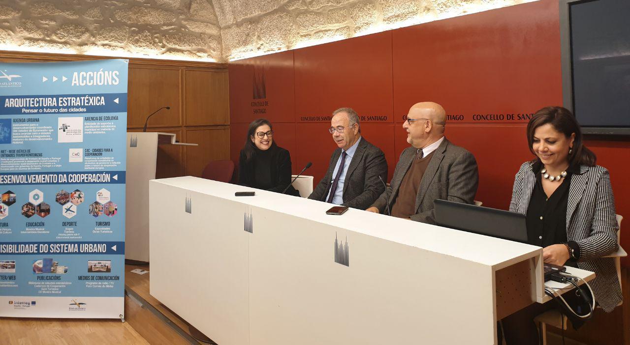 Ana Ladeiras, Xosé Sánchez Bugallo, Xoan Mao e Ana Carricoba.