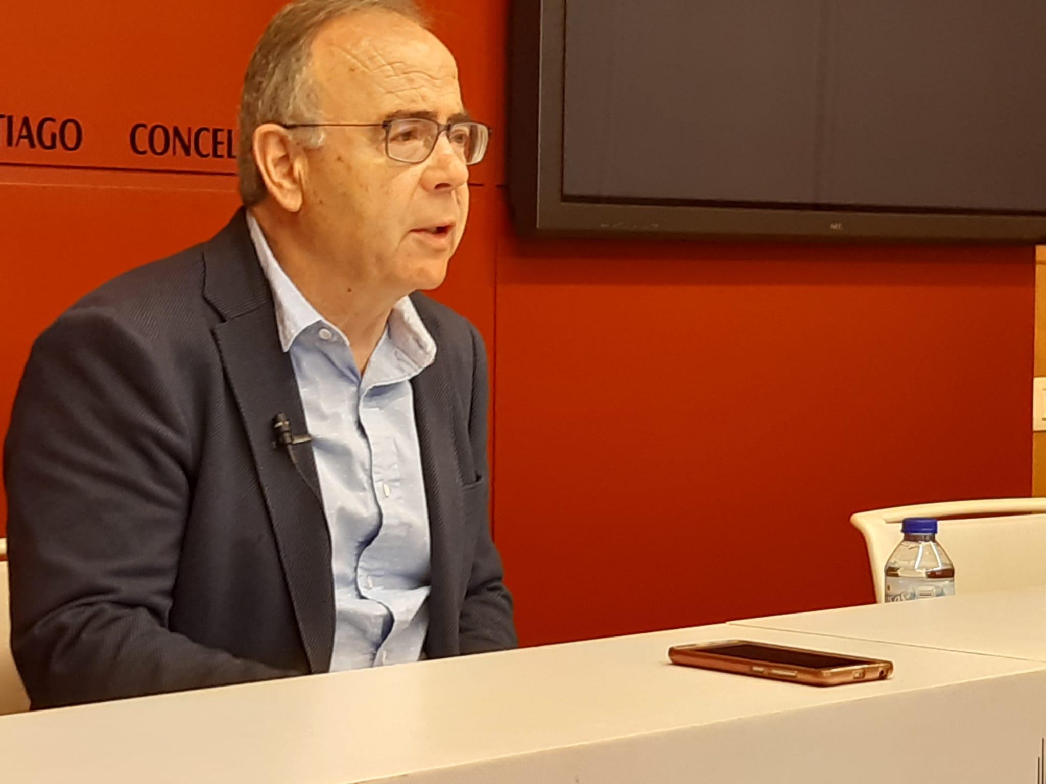 Sánchez Bugallo durante a rolda de prensa desta mañá en Raxoi.
