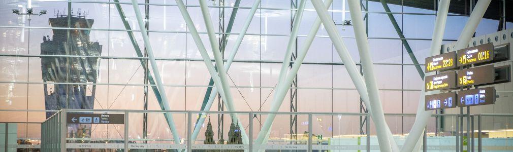 O aeroporto de Santiago contará con 14 rutas internacionais directas este verán